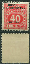 21.Yugoslavia SHS Bosnia 1918 porto ERROR moved overprint MNH Michel 10