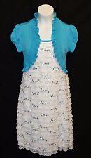 Sz  8 Speechless Girls Bolero Jacket Dress Layered Church Easter Thanksgiving
