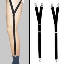 1Pair Men Garter Belt Leg Suspenders Shirt Braces Elastic Strap Non-slip FT