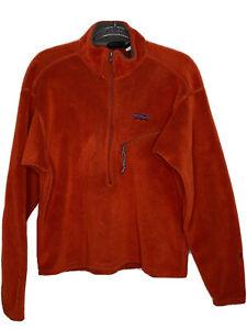 Patagonia R2 Regulator Mens Large 1/2 Zip Pullover Deep Pile Orange