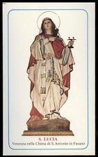 "santino-holy card""S.LUCIA V.M.-FASANO"