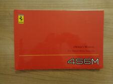 Ferrari 456M GT/GTA Owners Handbook/Manual (U.S Version 2002)