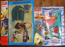 Vintage Action Man 40th cardée explorateur sous-marin bleu homme-grenouille Costume Film Unité