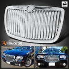 For 2005-2010 Chrysler 300 300C Chrome Vertical Front Bumper Hood Grille Grill  for sale