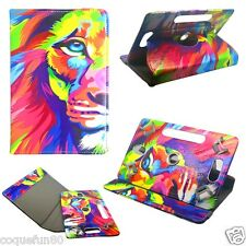 Etui Tablette Samsung Galaxy Tab A 6 - Rotative 360 ° - 7 Pouces - Motif Lion