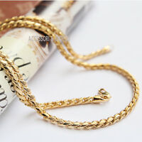 collana catena girocollo uomo donna in acciaio dorato c.107