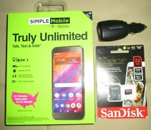 Simple Mobile Blu View 1 4G LTE Prepaid smartphone W/ $50 UNLIMITED SUPER BUNDLE