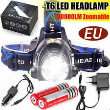 Аккумуляторная T6LED головной фонарь рабочий свет налобный фонарик лампа водонепроницаемый комплект