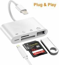4 in 1 Lightning SD Card Reader For iPhone Apple iPad Lightning to USB SD TF