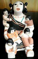 Vintage American Legacy Southwestern Pueblo Story Teller Figurine w/ 5 Kids