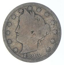 1883 'NO Cent' Liberty V Nickel - Tough - First Year Issue *908