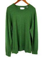 Southern Tide Mens XL Green Crew Neck Sweater Skipjack Long Sleeve Merino Wool