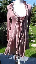 robe vieux rose viscose /angora ELISA CAVALETTI made in italie