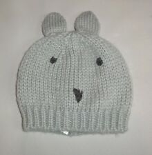 LITTLE GIRLS HAT AGE 18-36 MONTHS NEW MARKS AND SPENCER GREY MOUSE EARS KNITTED