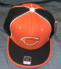 NFL CHICAGO BEARS Fitted Hat Cap Flat Brim Bboy HipHop Baseball Caps Size 7 5/8