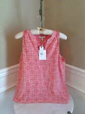 NWT Joie Coral Rose 100% Silk Bilbao Top Size XS