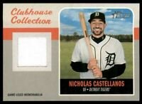 2019 Topps Heritage Clubhouse Collection Relics #CCRNC Nicholas Castellanos