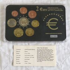 AUSTRIA 2007 COMMEMORATIVE ROME TREATY 2 EURO IN 8 COIN EURO TYPE SET - pack/coa