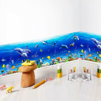 Qu/_ KF/_ Sea 3D Window View Removable Wall Sticker Vinyl Art Room Decal Decor Mur