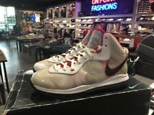 Nike Lebron James 8 V/2 SZ 10.5 White Sport Red Miami Heat Elite 429676-100