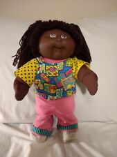 Cabbage Patch African American First Edition 1990 Girl Doll Scrubs CPK