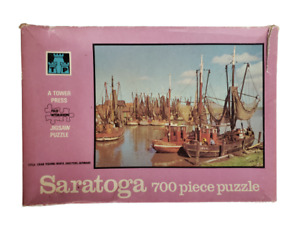 Vintage Puzzle Saratoga 700 Piece Made In England 1971 Crab Fishing Boats