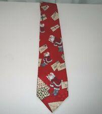 Men's Donberry & Keats Santa Claus Christmas Holiday Silk Neck Tie
