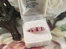 Vintage Jewellery Rose Gold Ring Rubies White Sapphires Antique Deco Jewelry 7