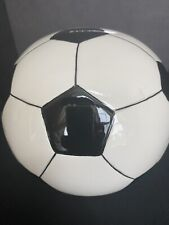 New listing Soccer Ball Sports Themed Ceramic Kids Piggy Bank Bedroom Décor Coin Bank