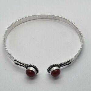 Brand New Silver Plated Red Coral Bracelet