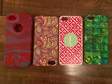 SET OF 4 IPHONE 5 PHONE CASES