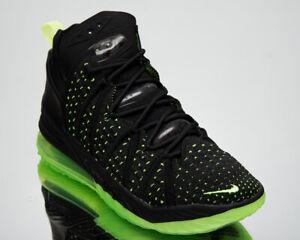 Nike LeBron XVIII Dunkman Men's Black Green Athletic Basketball Sneakers Shoes