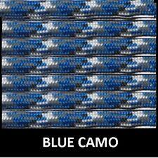 1000ft Spool of 550 Parachute Paracord Type III 7 Strand Nylon Cord Blue Camo