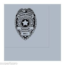 Police Badge Lunch Napkins Birthday Party Supplies law enforcement
