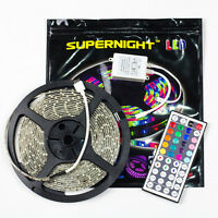 SUPERNIGHT® Waterproof 5M RGB 3528 Strip Lights 300led+ 44key Remote Controller
