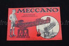 P298 Rare Catalogue vintage  MECCANO boite 3a rouge french export 13/952/2