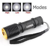 SKYWOLFEYE 20000LM X-XM-L2 LED Flashlight Police 5 Modes Light Lamp+18650 MT