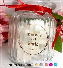Crest foil name wedding sticker gold silver, pink,rose Transparent  Personalise
