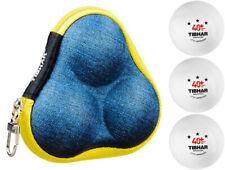Tibhar Borsa per Palloni Sidney Blu + 3-Sternbälle Ping Pong Tischtennisbäll