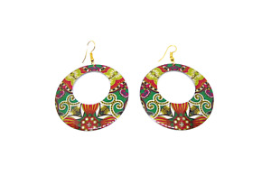 Indian Design Disc Earrings, Lead and Nickel Free, Made in India