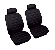 Luxury High Quality Leather Look Black ECO Styling Front Pair Car Seat Covers