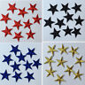 10x Star Iron On Patch Sew On Badge Bag Clothes Crafts Embroidered Applique