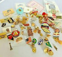 Vintage to Now Lapel Pin Lot of 70 Hat Pin Vegas BSA Estate Thrift Finds Nevada