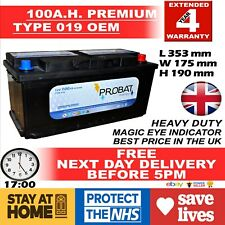 DIESEL CAR BATTERY 019 100AH 12V HEAVYDUTY SEALED AUDI BMW MERCEDES FORD VW SEAT