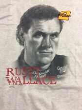 Vintage Rusty Wallace #2 Nascar W/embroidery Nutmeg Mills T Shirt  XL New W/tags