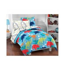 Dinosaur Twin Comforter Boys Bedding Bed In A Bag 5 Pc Sheet Set Kids Bedroom