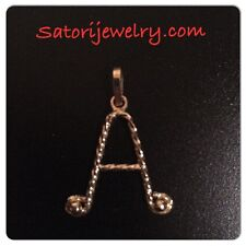14K Yellow Gold Initial / Letter A Pendant /Charm Gift Personlize Free Box
