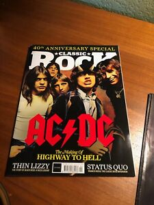 CLASSIC ROCK Magazine AC/DC 40th Anniversary Collectors Poster ALBUM GUIDE NICE