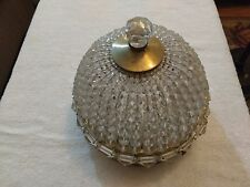 Majestic MS&S Co Inc Vintage 9 Inch Beaded Dome Ceiling Fixture Light  Rewired