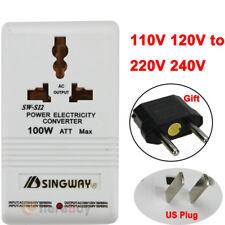 110V/120V to 220V/240V Step-Up&Down Voltage Converter 100W Transformer Travel US